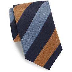 Charvet Multi-Tone Striped Tie ($245) ❤ liked on Polyvore featuring men's fashion, men's accessories, men's neckwear, ties, navy, mens ties, mens striped ties and mens navy tie