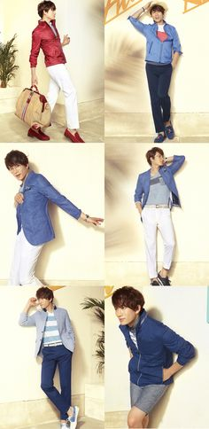 HAPPY BIRTHDAY: Ji Sung looks cute and playful in new Austin Reed S/S collection