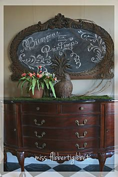 Love the Vintage Look ~ Pin and Remember for the mirror in our guest bedroom