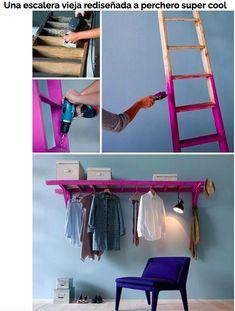 Check out the idea: DIY Ladder Storage Rail crafts homedecor - Diy for Home Decor Furniture Makeover, Diy Furniture, Steel Furniture, Apartment Furniture, Furniture Online, Studio Apartment, Apartment Living, Ladder Storage, Diy Ladder