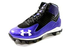 Under Armour Youth's Hammer Mid Jr Black/Blue Football Cleats ** Be sure to check out this awesome product.