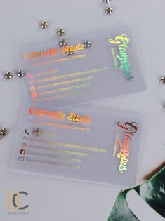 Clear Transparent Plastic Business Cards, Foils, design for FREE, custom Transparent Business Cards, Clear Business Cards, Plastic Business Cards, Beauty Business Cards, Salon Business Cards, Business Credit Cards, Business Card Design, Unique Business Cards, Business Baby