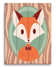 Fox Bow Tie Animal Portrait Wall Art
