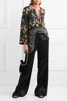 Etro - Floral-print Silk Crepe De Chine Blouse - Black - IT38