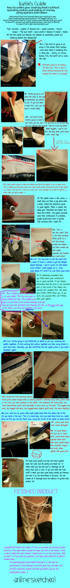 How to make lace up boots.... For wider calves & skinnier too.... Because I can never find boots skinny enough!!!