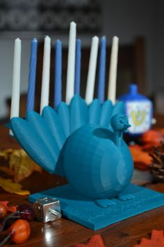 The Menurkey, a menorah + turkey combination celebrating the once in an eternity event (11/28/13) when Hanukkah & Thanksgiving overlap!