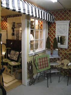 "Another photo of the ""exterior"" of our antique mall booth."