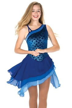 Sapphire Salsa Dress [Jerrys 116 A] - $159.98 : Figure Skating Boutique, Where the Champions Shop