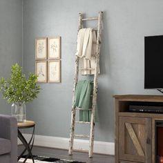 August Grove® 4 ft Blanket Ladder | Wayfair Farmhouse Blankets, Farmhouse Decor, Modern Farmhouse, Farmhouse Style, Wood Ladder, Ladder Decor, Plant Ladder, Rustic Ladder, Diy Ladder