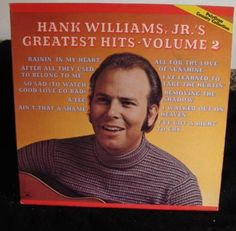 Hank Williams Jr's Lp Greatest Hits Vol 2 Near Mint #ContemporaryCountryCowboyCountryHonkyTonkProgressiveCountryTraditionalCountry