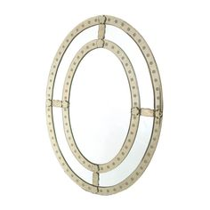 oval antique trimmed mirror  #gorgeous!