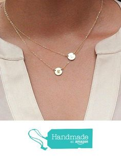 Circle Layered Necklace - Double Small Initial Charm, Two Delicate Mother's Necklace - Family Necklace, Couple Jewelry, Best Friend Necklace, Sister Jewelry from HotMixCold http://smile.amazon.com/dp/B015PGNHJY/ref=hnd_sw_r_pi_dp_mLEAwb07QC7D6 #handmadeatamazon