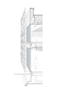 Drawings 11 of 17 from project Headquarters & Conference Hall Section Drawing Architecture, Conceptual Architecture, Architecture Board, Education Architecture, Sustainable Architecture, Architecture Details, Building Skin, Building Facade, Architectural Section