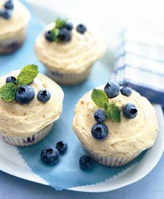 Blueberry Hill Cupcakes via Bon Appétit