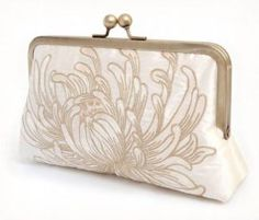 Embroidered Silk Bridesmaid Purse for Women