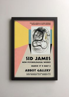 British comedy lovers and movie poster collectors will enjoy this exhibition poster which imagines if Sid James, one of the stars of the Carry On films, had also been an international avant garde artist, and had exhibited surrealist paintings in London in the 1950s. This make-believe memorabilia has been designed in a convincing retro vintage style, inspired by exhibition posters from London art galleries in the 1950s, and given an aged look to make it resemble a piece taken directly from…