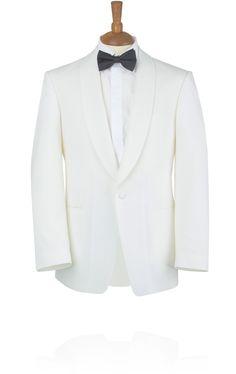Buy Wilvorst White Tuxedo Jacket