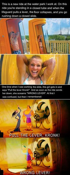So funny! Some of the best stories I have herd have come from those who wor… So funny! Some of the best stories I have herd have come from those who working at Six Flags! Funny Disney Memes, Disney Jokes, Funny Relatable Memes, Funny Posts, Funny Quotes, Funny Humour, Funniest Memes, Disney Pixar, All Meme