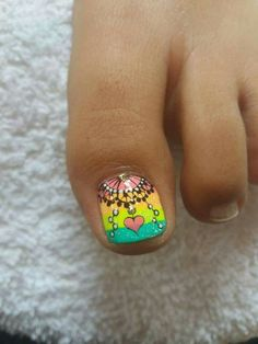 Best Nail Art Decorations To Choose Cute Simple Nails, Cute Toe Nails, Toe Nail Art, Love Nails, 3d Nails, Pedicure Designs, Toe Nail Designs, Acrylic Nail Designs, Wonder Nails