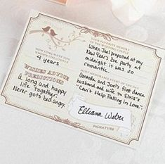 Forever Wedding Wishes Signature Cards - Pkg of 48 Wedding Reception Favors, Wedding Notes, Wedding Wishes, Wedding Stuff, Wedding Ideas, Wedding Decorations, Wedding Plastic Cups, Wedding Cups, Personalized Gift Bags