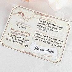 Forever Wedding Wishes Signature Cards - Pkg of 48 Wedding Reception Favors, Wedding Notes, Wedding Wishes, Wedding Plastic Cups, Wedding Cups, Wedding Day, Wedding Stuff, Wedding Keepsakes, Nashville Wedding