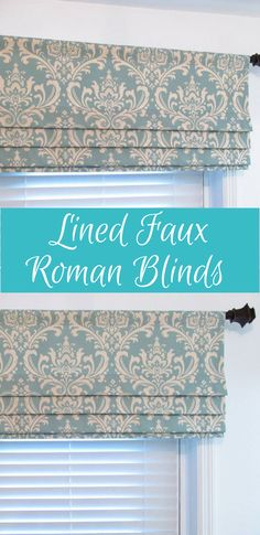 Beautiful damask pattern. Colors include dusty blue and natural. Valance is lined with white standard drapery lining. #ad #curtain #laundryroom
