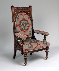 1872 American Chair at the Metropolitan Museum of Art, New York