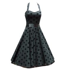 HR Flocking Polkadot Rockabilly Dress