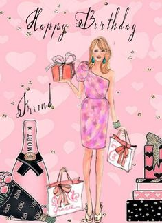 Free Birthday Greetings, Happy Birthday Ecard, Happy Birthday Wishes Cards, Girl Birthday Cards, Betty Boop Cartoon, Girl Friendship, Morning Affirmations, Birthdays, Greeting Cards