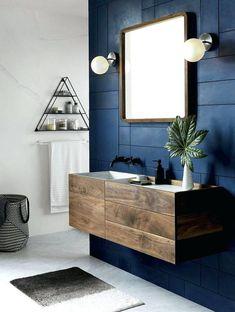 Navy And White Bathroom Navy And White Bathroom Navy Blue Bathroom blue bathroom decor - Bathroom Decoration Navy Blue Bathroom Decor, Dark Blue Bathrooms, Pink Bathroom Tiles, Bathroom Wall Decor, Bathroom Colors, White Bathroom, Colorful Bathroom, Bathroom Ideas, Bath Ideas
