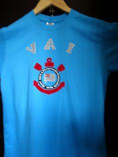 Camiseta em malha super macia de Santa Catarina, aplique em tecidos em algodão tamanho P. Aceitamos encomendas em outras cores e tamanhos.