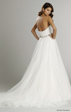 1dd5ce872e alvina valenta fall 2015 wedding dresses strapless sweetheart neckline silk  faced modified a line wedding dress