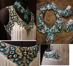 白&グリーンのフリンジのラテンドレス | Atelier Casablanca -ダンスドレスの部屋- - 楽天ブログ