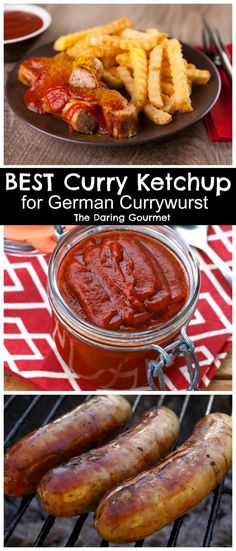 Traditional Currywurst and Curry Ketchup Recipe Traditionelles Currywurst- und Curry-Ketchup-Rezept Sausage Recipes, Cooking Recipes, German Food Recipes, German Recipes Dinner, Cooking Pork, Cooking Turkey, Dip Recipes, Pork Recipes, Sauce Au Curry