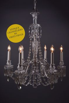 Hand restored crystal chandeliers by Fritz Fryer Hand restored crystal chandeliers by Fritz Fryer