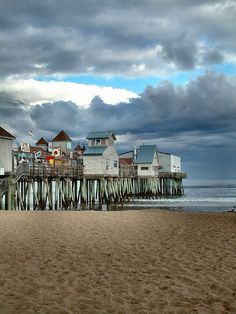Old Orchard Beach, Maine... this looks like the place in the series of unfortunate events movie...