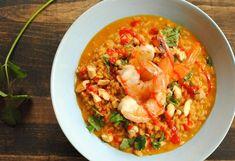 Spicy Coconut Risotto with Lime Shrimp | http://homemaderecipes.com/course/pastas-bread/14-risotto-recipes/