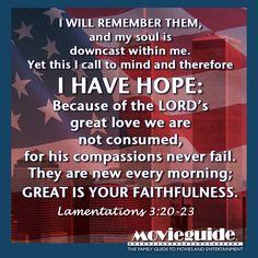 9/11 #NeverForget #911anniversary #PatriotDay Lamentations 3:20-23