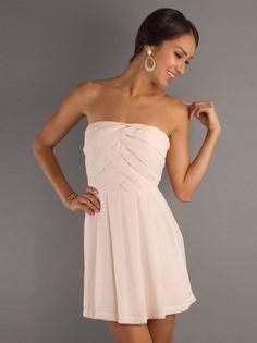 (NO.0250338)2012 Style A-line Strapless Ruffles  Sleeveless Short / Mini  Chiffon Cocktail Dresses / Homecoming Dresses