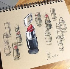 "130 Likes, 1 Comments - RotioOfficial (@rotioofficial) on Instagram: ""Red lipstick. Credit: @syhyin.design . . . . . . #rotio #sketch #idsketch #industrialdesign…"""