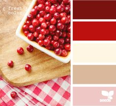 cranberry red colors + beige