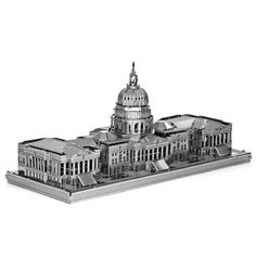 Capitol 3D Metallic Puzzle Educational DIY Toy-$3.16