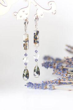 Provence Lavender bridal earrings  Lavender earrings