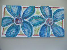 Fun Flowers - acrylic on canvas