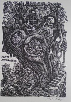 Zdeněk Mézl | grafika, ex libris, exlibris, antikvariát, knihy, bibliofilie, náku, prodej