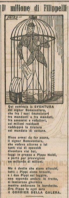 """Il delitto Matteotti su """"Il Becco Giallo"""", 22 giugno 1924   Matteotti, Fratta, Rovigo, Polesine"""