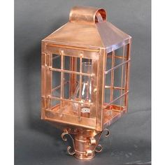 Reproduction   Square Copper Post Lamp From PW Vintage Lighting Exterior  Lighting, Vintage Lighting,
