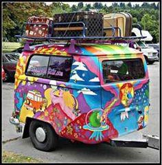 Hippy trailer - VW trailer. Love it!