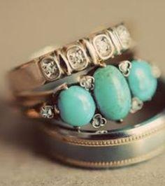 ≔ ♱ Boho Style ♱ ≕ bohemian gypsy hippie fashion - silver and turquoise rings - gorgeously boho