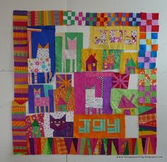 Lazy Gal Quilting by Tanya R. - House block in middle is Wonky Town tutorial